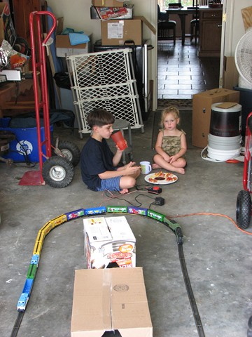 Brendan and Cadence with train 03
