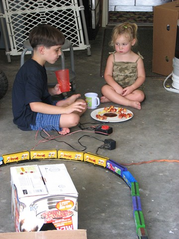 Brendan and Cadence with train 04