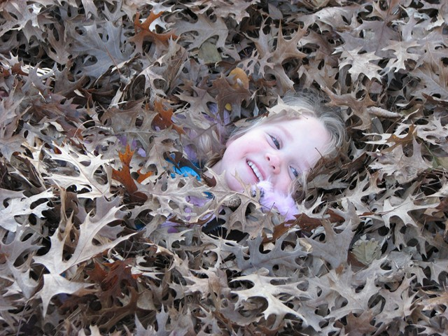 Cadence play in the Leaves 12-20-09    05