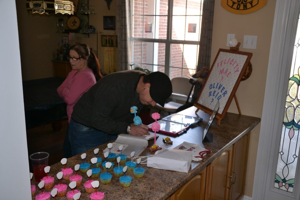 Ryan and Christina's Gender Reveal for Oliver 1-23-2016 (1)